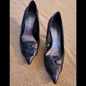 Hype genuine leather pointy shoes